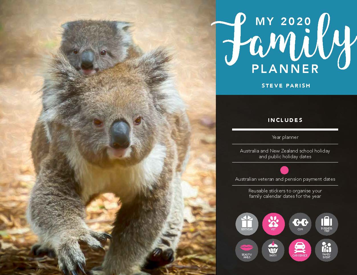 Steve Parish My Family Planner 2020 Horizontal